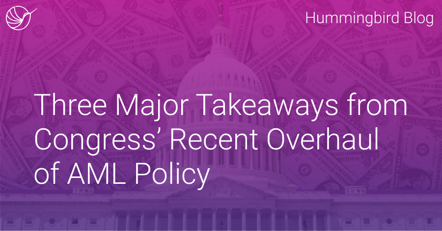 Three Major Takeaways from Congress' Recent Overhaul of AML Policy